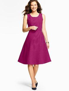 Edie Dress-Ottoman-Knit - Talbots