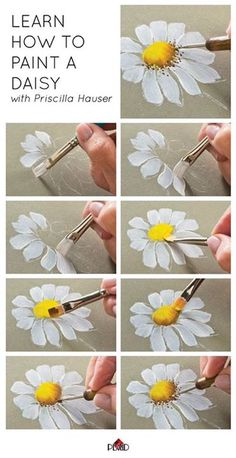 how to paint a daisy.