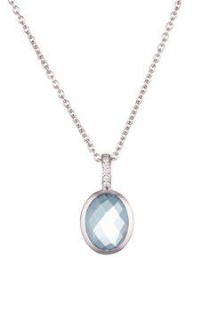Venta Maty / 17903 / Collares y Colgantes / Oro, Piedras Preciosas y Semipreciosas / Colgante Oro Blanco, Topacio y Diamantes
