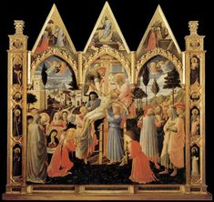 Deposition from the Cross - Artist: Fra Angelico Start Date: 1437 Completion Style: Early Renaissance Genre: religious painting Technique: tempera Material: panel Dimensions: 176 x 185 cm Gallery: Museo di San Marco, Florence Renaissance Artists, Renaissance Paintings, Italian Renaissance, Fra Angelico, Religious Paintings, Religious Art, Religion, Art Database, Italian Art