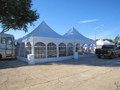 20 x 40 Frame Tent with Side Window Walls
