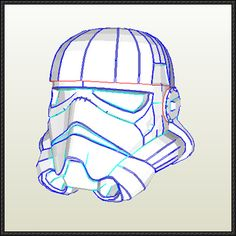Star Wars - Life Size Stormtrooper Helmet Ver.5 Free Papercraft Download - http://www.papercraftsquare.com/star-wars-life-size-stormtrooper-helmet-ver-5-free-papercraft-download.html