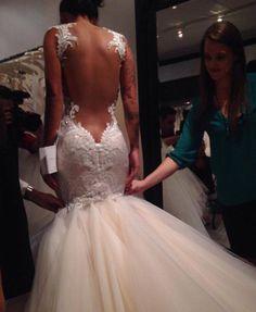 bride to be Dream Wedding Dresses, Wedding Gowns, Backless Wedding, Wedding Dress Accessories, Bridal Looks, Dream Dress, Wedding Styles, Beautiful Dresses, Marie