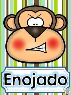 TARJETAS PARA TRABAJAR LAS EMOCIONES MOTIVOS ANIMALES -Orientacion Andujar Teaching English, Learn English, Baby Gym, Busy Book, Teacher Resources, Teaching Ideas, Preschool Activities, Cute Drawings, Classroom