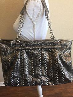 49757516b1 Charming Charlie Pewter Shoulder Handbag Large Silver Metallic Purse   CharmingCharlie  ShoulderBag Best Handbags