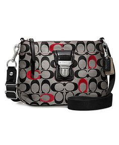 COACH POPPY EMBROIDERED SIGNATURE SWINGPACK - Coach Accessories - Handbags & Accessories - Macy's