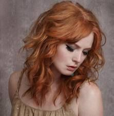 nude earthtones and dark eyes for red colored hairs  <3