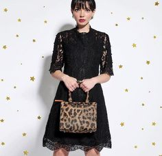 This small,cute leopard mini handbag will make your New Years outfits even more attractive! Paul's Boutique, New Years Outfit, Mini Handbags, Lady Dior, Cute, How To Make, Outfits, Tops, Fashion