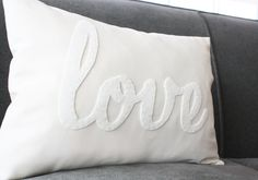 White Love PIllow