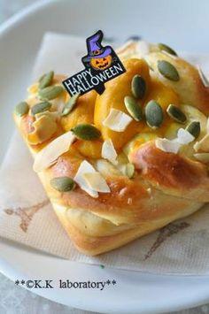 「【ハロウィン】パンプキンクリームパン」nonnon | お菓子・パンのレシピや作り方【corecle*コレクル】