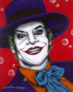 Shop for joker art from the world's greatest living artists. All joker artwork ships within 48 hours and includes a money-back guarantee. Choose your favorite joker designs and purchase them as wall art, home decor, phone cases, tote bags, and more! Joker Nicholson, Jack Nicholson, Joker Pop, Joker Painting, Clown Paintings, Art Paintings, Pop Art, Air Brush Painting, Rock Painting