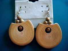 """OAK wood EARRINGS. Highest quality artwork! If you are not 100% satisfied (if you do not say """"it's amazing!"""". Hand made! There are a lot of fake and very poor quality products from. A truly unique gift that will last a lifetime! ).   eBay!"""