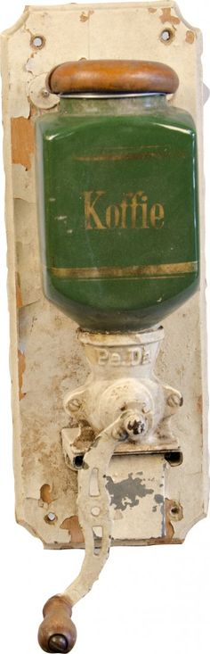 Antique Wall Mount Hand-Crank Coffee Grin