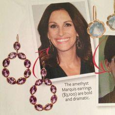 Julia Roberts Jamie Wolf Amethyst Earrings
