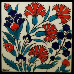 Turkish Tiles, Turkish Art, Portuguese Tiles, Turkish Design, Moroccan Tiles, Moroccan Decor, Vitromosaico Ideas, Motifs Art Nouveau, Turkish Pattern