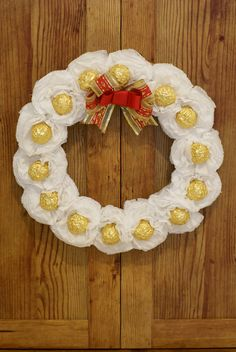 how to make a ferrero rocher wreath