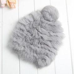 High quality Fashionable winter hats for women Rabbit Fur beanie Knitting wool Real Fur Casual cute girls cap free shopping