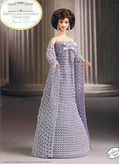 annie's attic fairy tale collection | JACQUELINE KENNEDY - First Ladies of America - Fashion Doll CROCHET