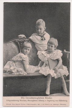 Vintage Postcard Children of Frederick Augustus II Elisabeth of Oldenburg | eBay