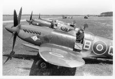 RAF Supermarine Spitfire, Mk 21. 41 Squadron. Lubeck. 1946.