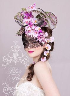 Collaborate with the Flowers for Everyone design team and your favourite milliner to create a show stopping floral headpiece at the Spring Racing Carnival Theme Carnaval, Costume Venitien, Spring Racing Carnival, Floral Headdress, Masquerade Party, Masquerade Masks, Carnival Masks, Beautiful Mask, Arte Floral