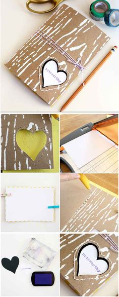 DIY Notebook from Cereal Box