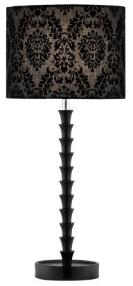 Complement your classically styled styled home with this opulent table lamp #lighting #suede