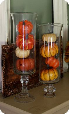 Pumpkins in vases | So simple and pretty!