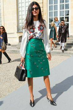 Giovanna at Christian Dior Spring 2014. Prints in street style