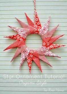 Ornamento de la estrella Tutorial por Tea Rose Home