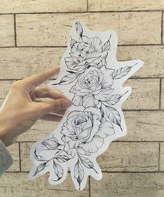 Super Flowers Tattoo Sketch Geometric Ideas - Gave Ideer Tribal Sleeve Tattoos, Tattoos Skull, Body Art Tattoos, Cool Tattoos, Tatoos, Dream Tattoos, Future Tattoos, Flower Tattoo Designs, Flower Tattoos