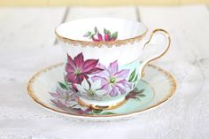 Tea Set, Vintage HM Sutherland, Bone China Tea Cup and Saucer, Tea Party, Gifts for Her