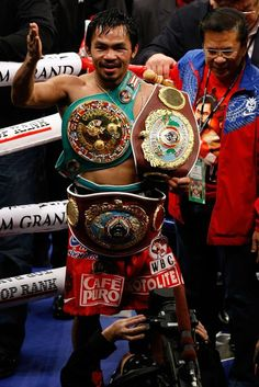 Manny Pacquiao after defeating Miguel Cotto in 2009
