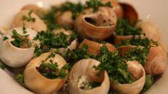 Slakken uit de oven met huisgemaakte kruidenboter