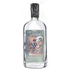 de winton paper co gin illustration sipsmith bottle square