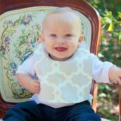 Baby bib / Boy bib / Trendy bib / Taupe bib by FHJBaby on Etsy