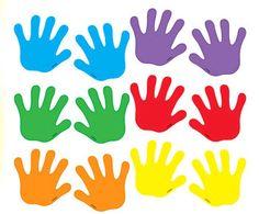 Diy Crafts - Trend Enterprises Classic Handprints Mini Accent (Set of Preschool Learning Activities, Motor Activities, Preschool Crafts, Preschool Science, Science Classroom, Classroom Walls, Classroom Decor, Diy For Kids, Crafts For Kids
