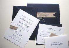 salty wedding invitations & rsvp cards SAMPLE by jackandellapaper, $5.00