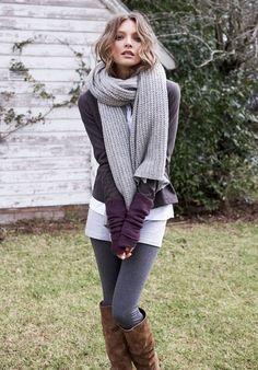 Skirt, boots, thick leggings