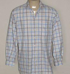 John W Nordstrom Shirt LARGE TALL Button Long Sleeve Light Blue PERFECT wisesize…