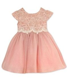 Rare Editions Baby Girls' Lace-Bodice Dress - Pink 3-6 months