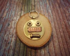 Pet id tag, Dog id tag, pet tag, tag, Large dog, Dog Tags Custom, Custom Dog Tag, Unique Pet Id Tag, Handmade. by VacForPets on Etsy https://www.etsy.com/listing/272060454/pet-id-tag-dog-id-tag-pet-tag-tag-large