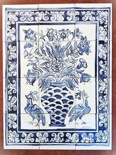 Painel em azulejos estilo Português, muito lindo!