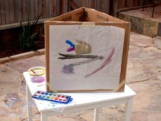 Diy Kids' Cardboard Art Easel