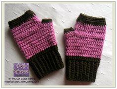 LUVAS SEM DEDOS EM CROCHÊ - by LA GATA - Melissa Gisele Bencz - Mitones crochet / Fingerless crochet