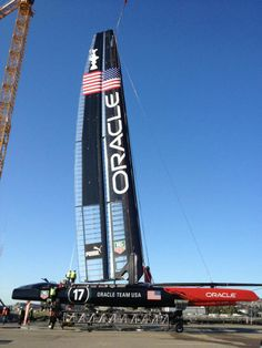 Oracle Team USA sporting a new wing. Keep an eye out for 'em on the Bay.