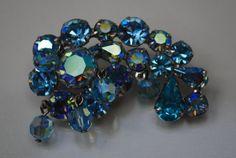 Vintage Blue Weiss Brooch
