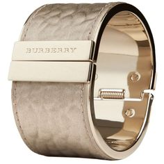 Burberry Textured Leather Cuff ❤ liked on Polyvore featuring jewelry, bracelets, accessories, nakit, narukvice, cuff bracelet, cuff bangle, burberry jewelry, bracelet bangle and cuff jewelry