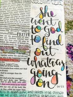 "Bible journaling - Genesis ""she went to God…"""