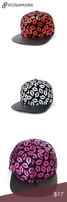 Metallic Lips Snaback New adult size metallic lips snapback...See all items for sale we have the latest in fashion clothing, swimsuits, jewelry, sunglasses, makeup and more! Follow us to stay with the latest fashions daily!    #flawlessfashions04 Rima Imar Accessories Hats